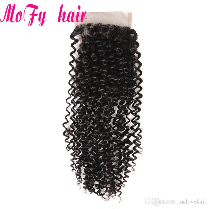 Mofy Malaysian Kinky Curly Hair 3 Bundles With Closure Baby Hair Free Part Human Hair Bundles With Closure Cheap Remy Weaves