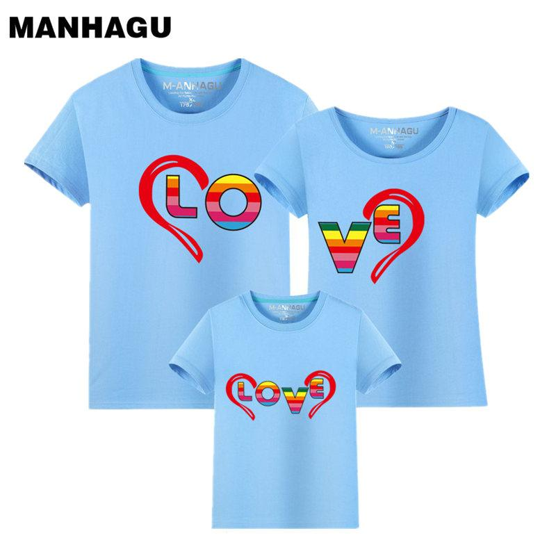 1 piece 2017 Summer Fashion Family Look Short Sleeve T Shirt Children's Clothing Trend Casual Top Tees Family Matching Outfits