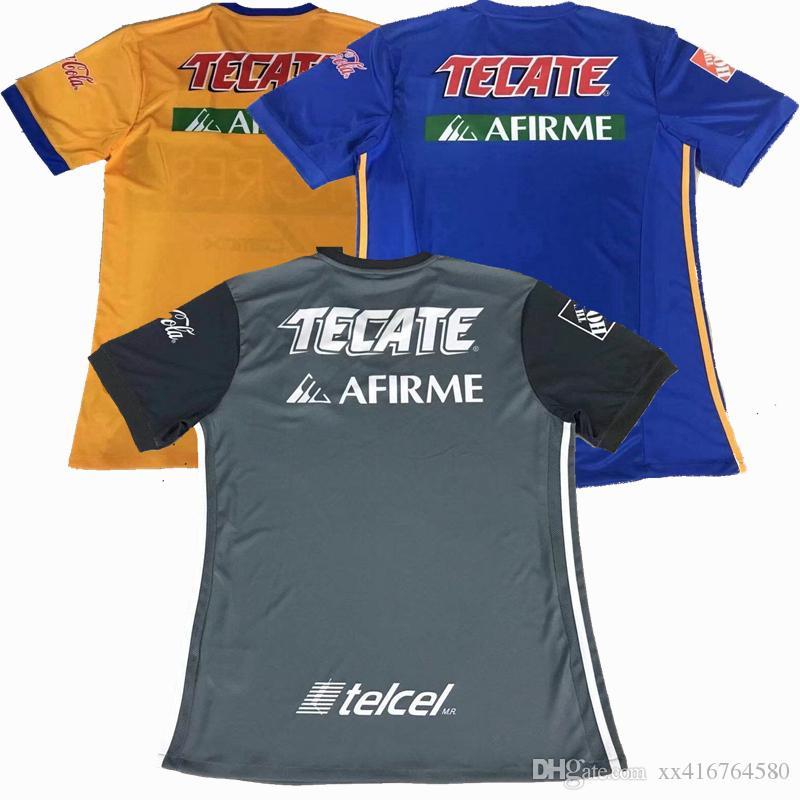2018 2019 Tigres 6 Estrellas Jersey De Fútbol 18 19 Uanl En Casa Fuera 3ras  Camisetas De Fútbol Tailandesas Grises. Por Xx416764580, $13.13 |  Es.Dhgate.Com