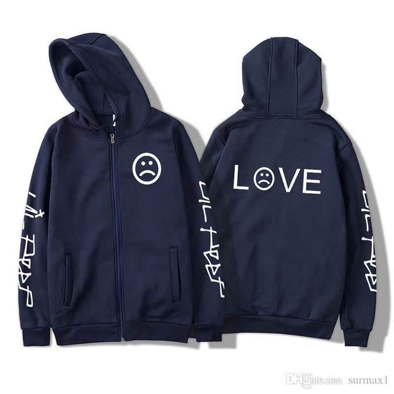 Large Size Couple Clothing Size 2XS-4XL Multi Color Winter Fleece Zipper Lettering Casual Sports Hoodie tops