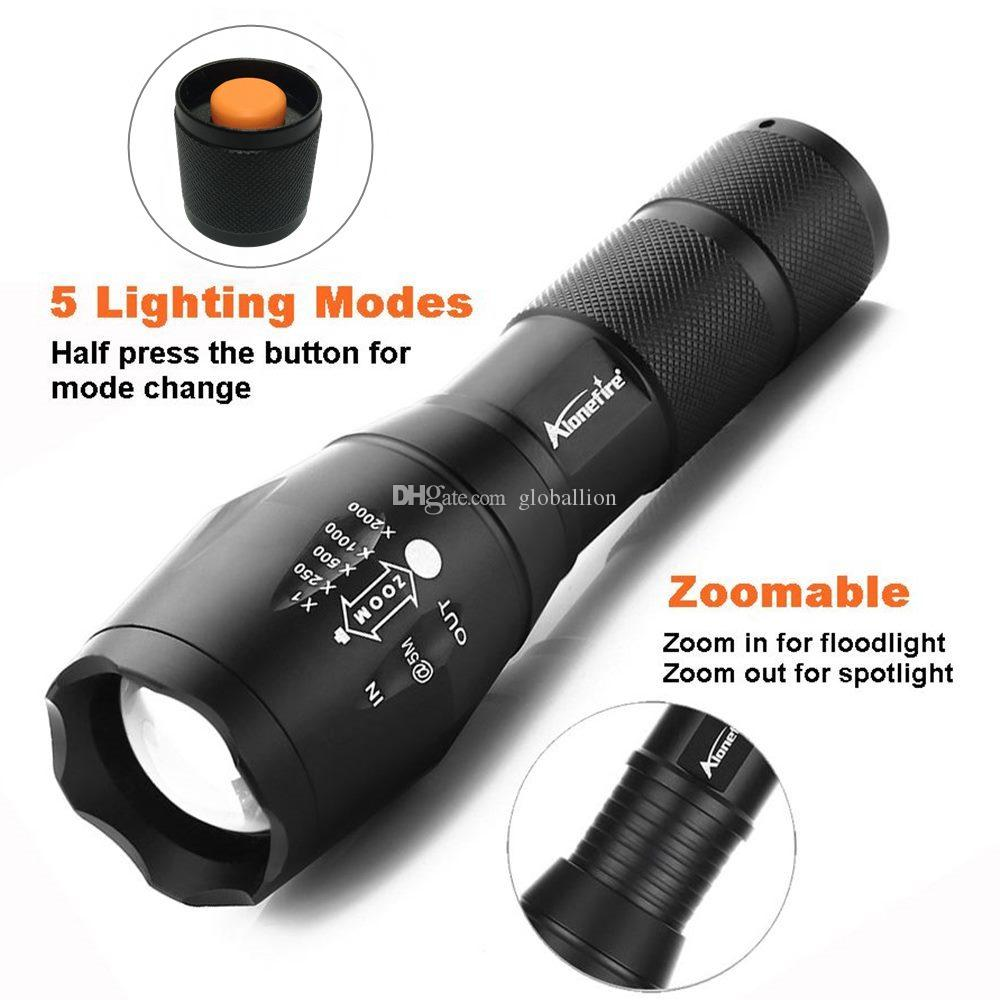 Alonefire E17 G700 CREE XM-L2 5000LM Bicycle Zoomable CREE LED Flashlight Torch Bike light lamp for 18650 Rechargeable Battery AAA