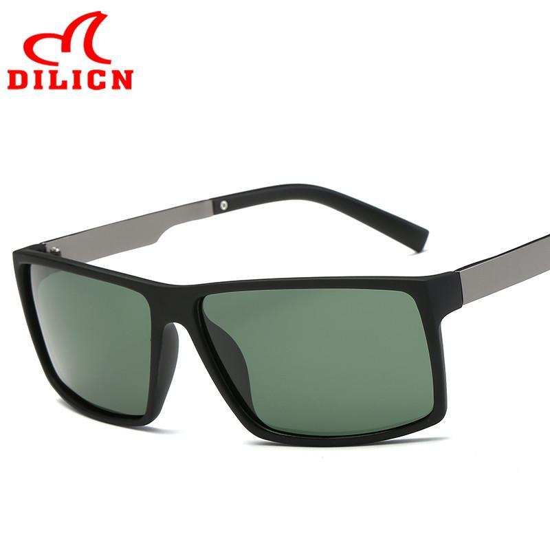 Compre DILICN Polarizada Óculos De Sol Dos Homens De Visão Noturna Óculos  De Condução Espelho Do Vintage Motorista De Vidro Do Sol Masculino Óculos  De ... a6b38f9bad