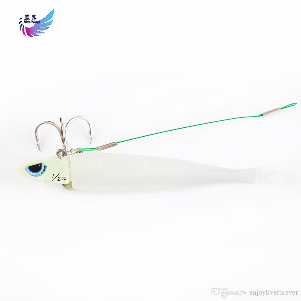 Luminous Bionic Fish Soft Bait Jig Head Metal Hard Bait Soft Worm Fishing Lure with Sharpened Treble Hook