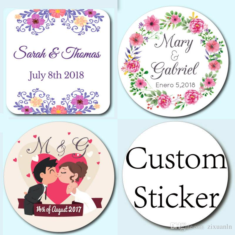 4cm, Customized Personalised Wedding Stickers, Party Candy Boxes Stickers,  Invitations Envelopes Stickers Wedding Gifts Ideas Personalized Wedding  Favors ...