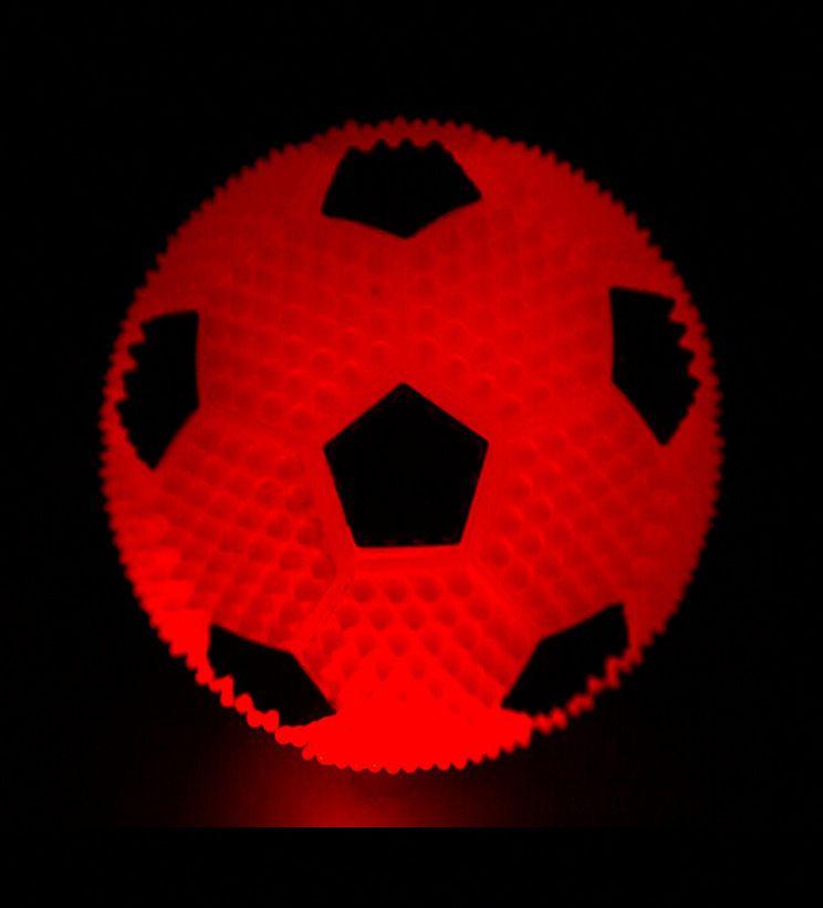Elastic Vent Ball Led Luminescence Children Creative Toys Press Sounding Plush Football Design Multi Color Toy New Style