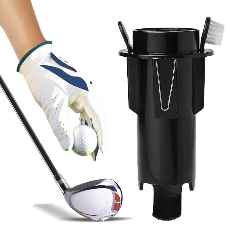 2019 Golf Ball Tee Holders Clip Caddy Brush Divot Portable Storage