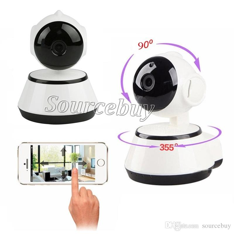 976f31027dc V380 Home Security IP Camera WiFi Video Surveillance Cam 720P Night Vision  Motion Detection Baby Monitor P2P Camera Rotation Support TF Card