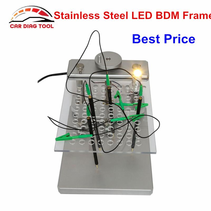 Best Quality LED BDM Frame New ECU Programming Tool With 4pcs Probe Holder  Stainless Steel ECU Chip Tunning Tool