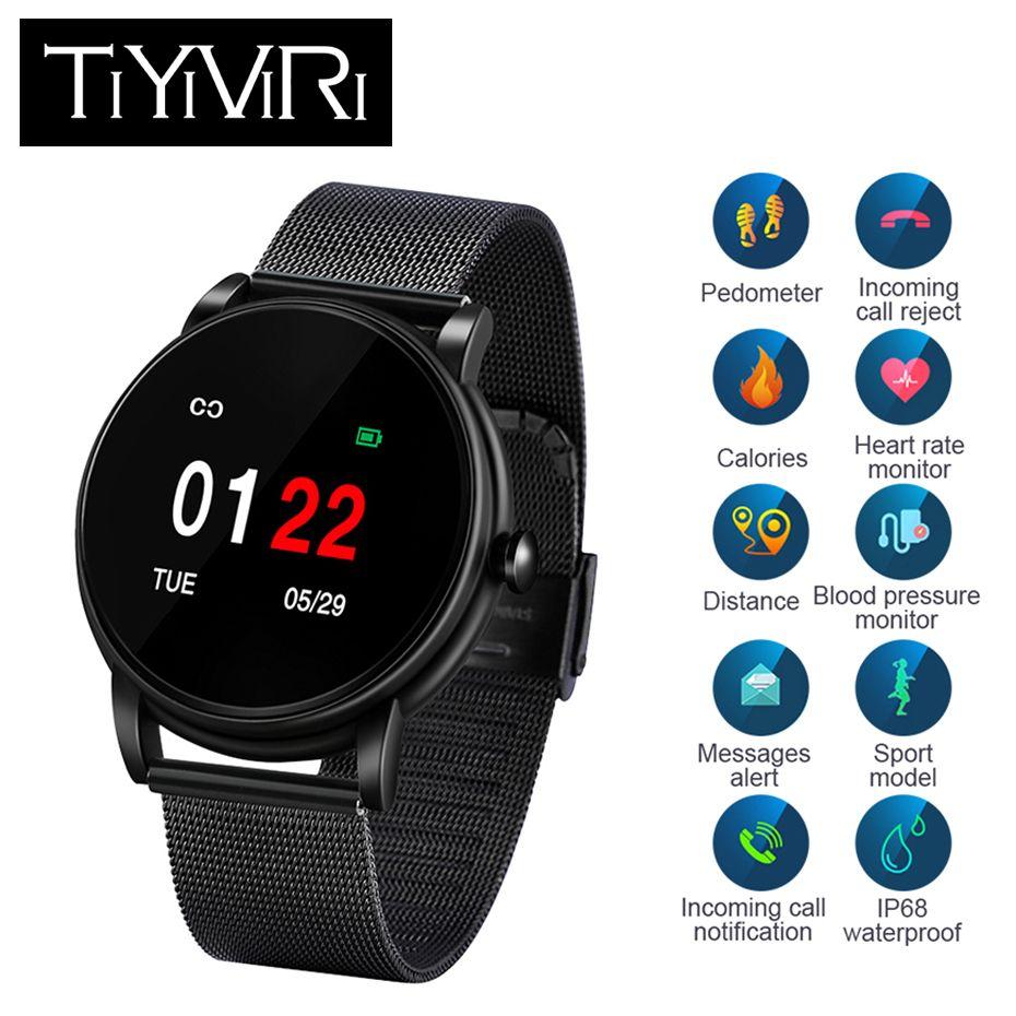 Sport & Unterhaltung Fitnessgeräte Verantwortlich Smart Armband Farbe Bildschirm Blutdruck Fitness Tracker Gerät Herz Rate Monitor Smart Band Smart Herz Rate Armband