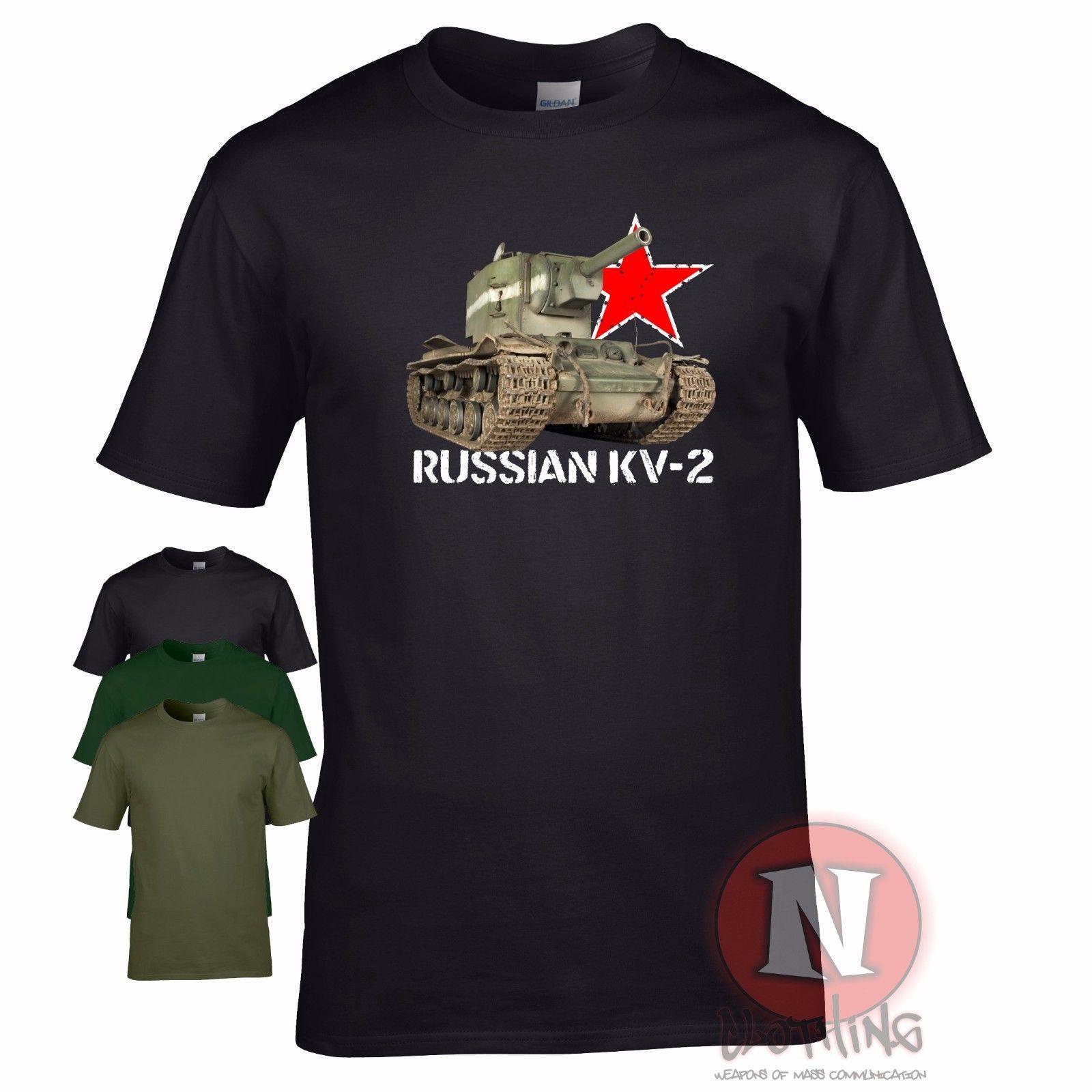 Grosshandel T Shirt Des Russischen Panzerpanzers Ww2 Des Militars Ww2
