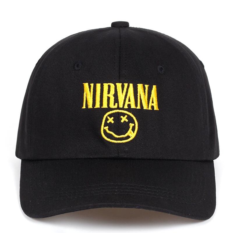 7e912489b18d0 Hot Selling Men Women Nirvana Face Dad Hat Baseball Cap Polo Style  Unconstructed Fashion Unisex Dad Cap Hats Free Delivery Flat Caps Trucker  Caps From ...