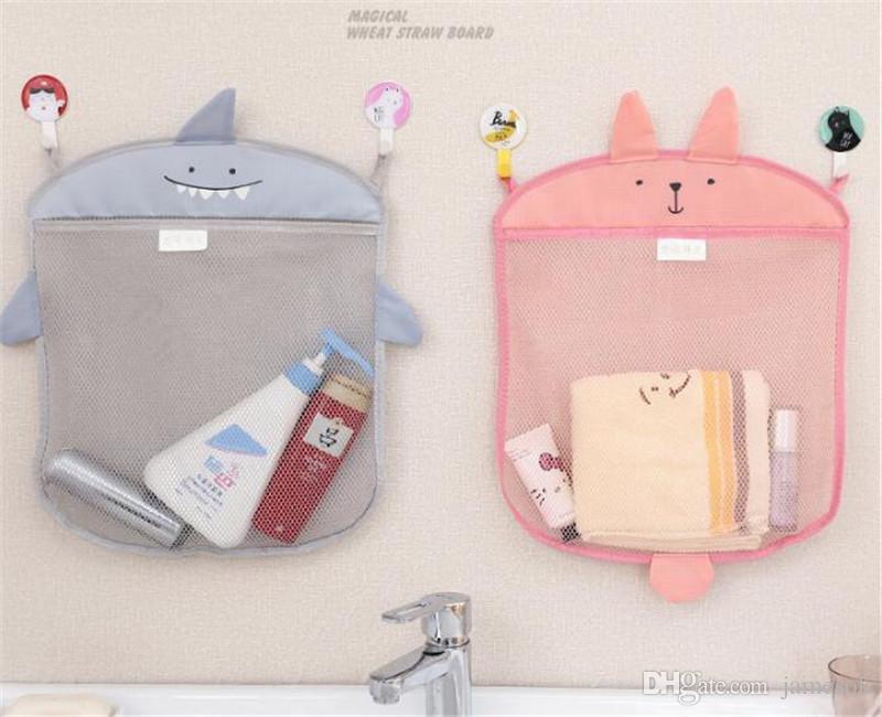 Baby bathroom mesh bag for baths toy bag kids basket for toys net cartoon animal shapes waterproof cloth sand toys beach stroage TO409