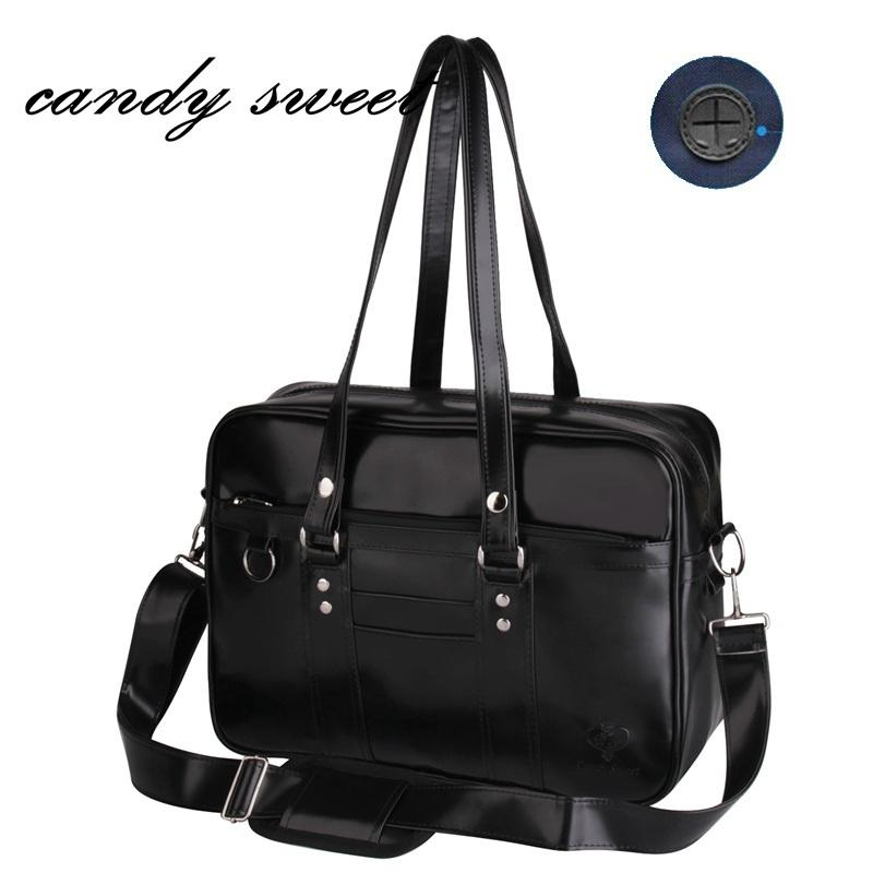 50c5efa4e0 Embossed Japanese School Handbags High College Students Uniform Bag Unisex Shoulder  Bags Messenger Bags PU Leather For Women Men Y1892608 Handbags Wholesale ...