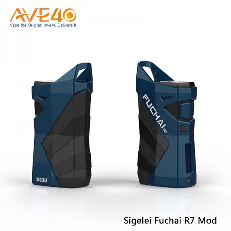 100% original sigelei fuchai r7 230 w caixa mod sem bateria liga de zinco material plástico cigarro eletrônico mod