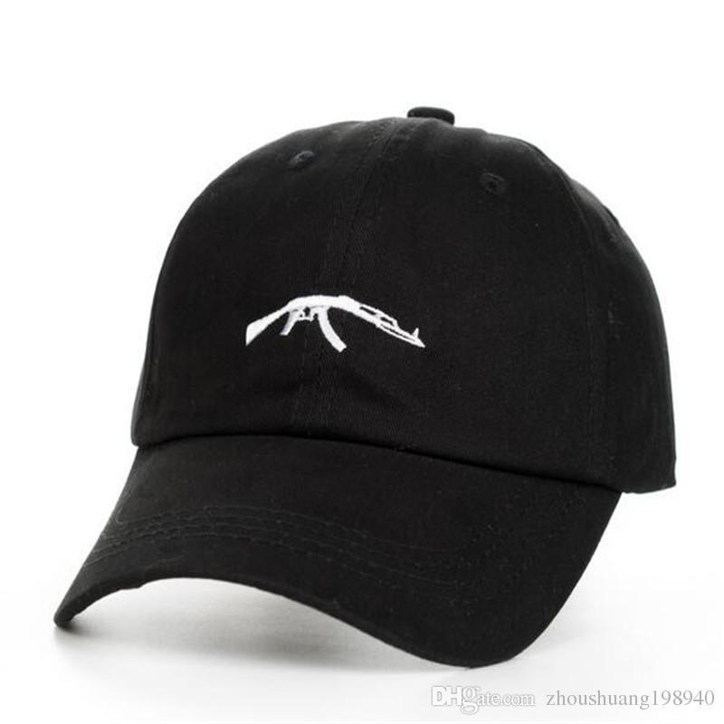 UZI Gun Baseball Caps Ak47 Snapback Hip Hop Dad Hat Cap Women Men ... 2d3f66bb8974