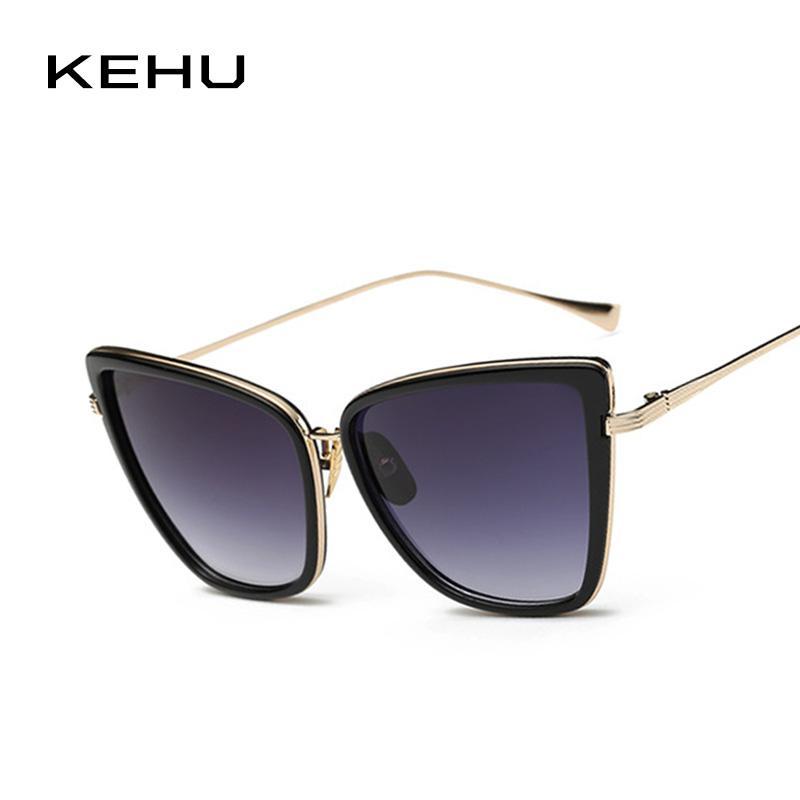 89d10322c8f Compre KEHU Lady Cat Eye Sunglasses Marco Grande Cat Eye Sunglasses ...