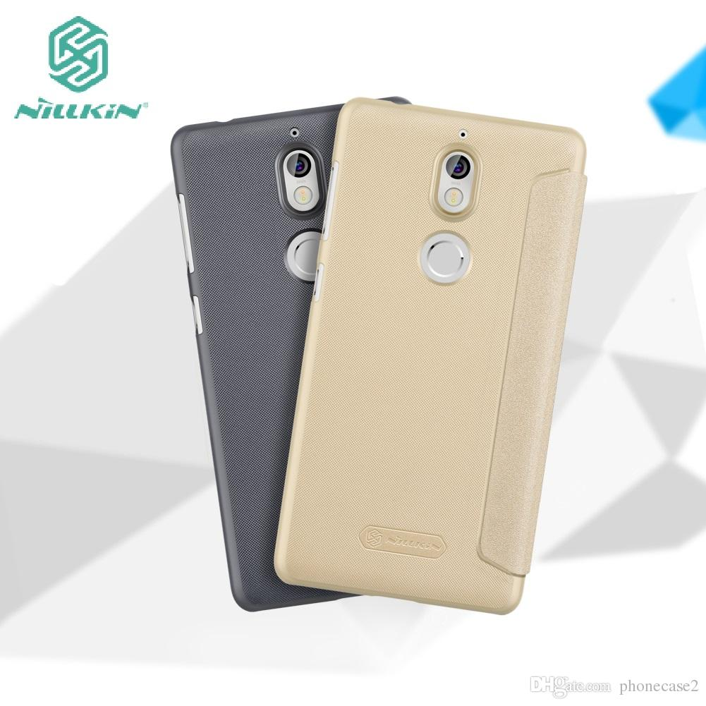 new style d6c0c 15cc5 Nokia 7 Case NILLKIN Sparkle Case for Nokia 7 plus Nokia7 flip cover super  thin leather case bag with sleep function Retailed Package