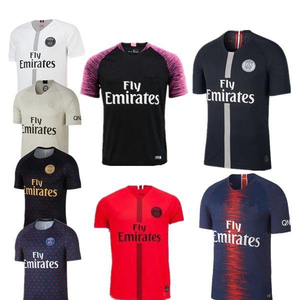 Negro Blanco Maillot Psg 3ro Camisetas De Fútbol 2018 2019 Maillot De Pie  MBAPPE CAVANI BUFFON Jersey 18 19 Kits De Fútbol Camiseta De Fútbol Por  Minghao666 ... b0bd5bcea182b