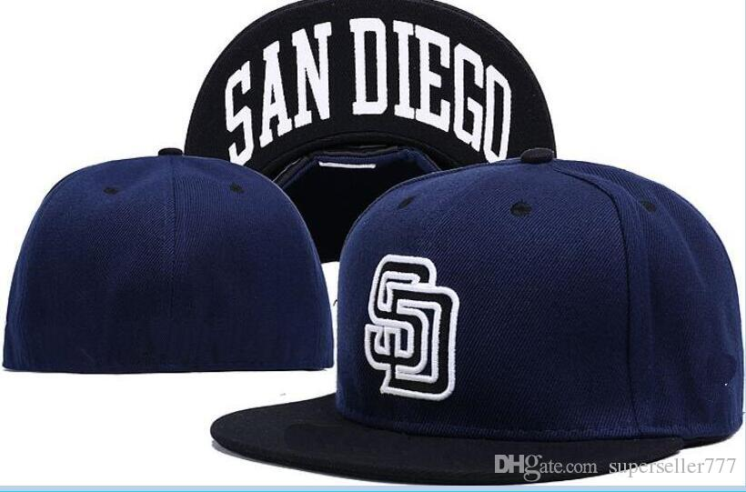 564d183deb1 Fitted Hats Sunhat San Diego Hat SD Cap Team Baseball Embroidered Team Flat  Brim Hats Baseball Size Cap Brands Sports Chapeu For Men Women Millinery ...
