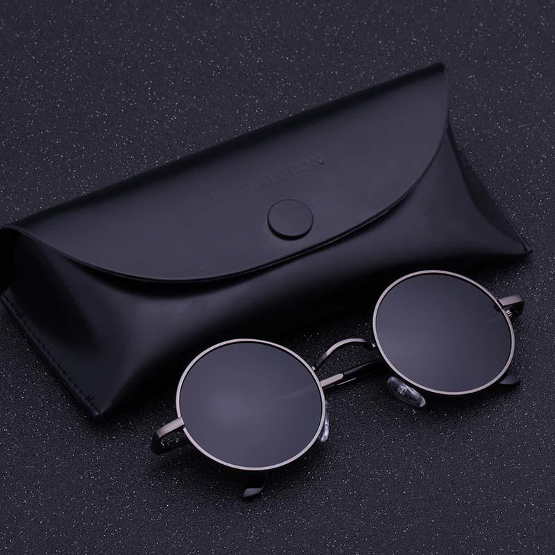 9a5dfe1640 Black Metal Polarized Sunglasses Gothic Steampunk Sunglasses Mens Womens  Fashion Retro Small Vintage Round Eyewear Shades D18101302 Heart Shaped  Sunglasses ...