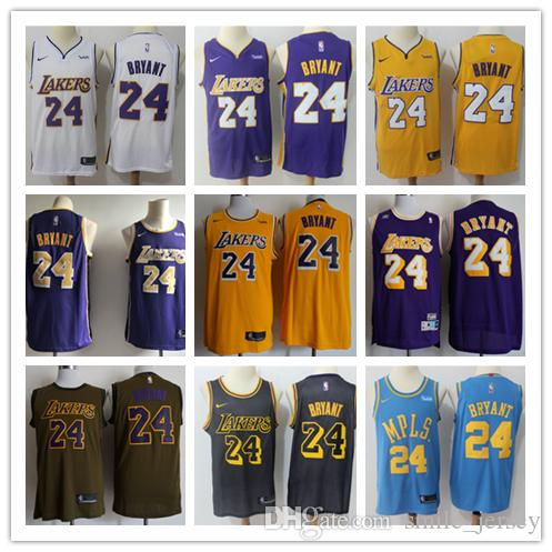 e529c62a3fa2 2019 New Retro Mens 24 Kobe Bryant Los Angeles Jersey Lakers Basketball  Jerseys Stitched Authentic Classic Lakers Kobe Bryant Basketball Jerseys  From ...