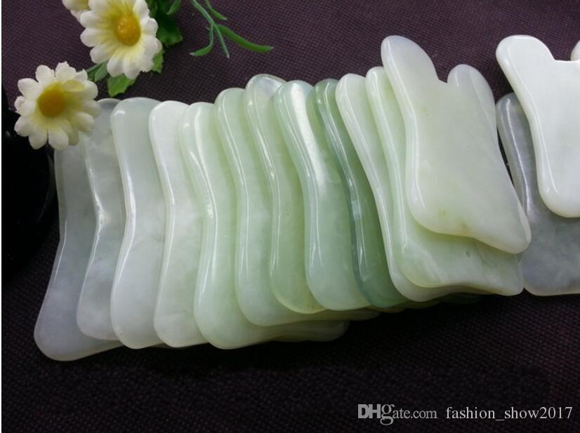 Moderne natürliche jade stein guasha gua sha brett quadratische form massage handmassagegerät entspannung gesundheitswesen schönheit werkzeug