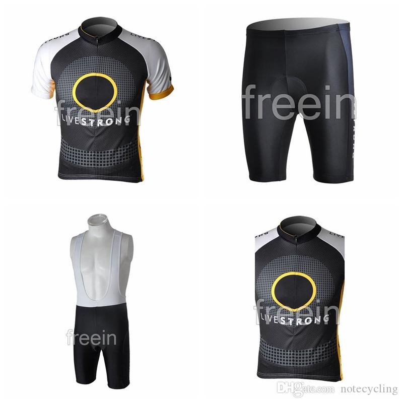 LIVESTRONG Cycling Short Sleeves Jersey Bib Shorts Sleeveless Vest Sets  2018 Bike Ropa Ciclismo Hombre Mountain Bike Comfort Hot A41607 Bike Riding  Gear ... 53668584a
