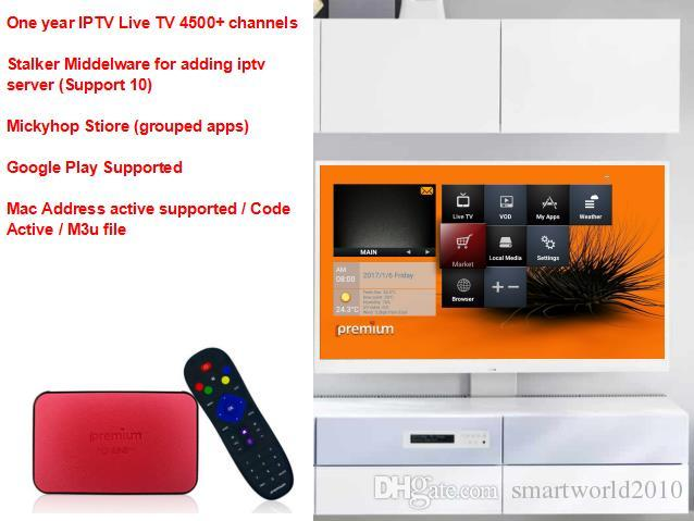 ipremium TV Online Pro AVOV Android Smart TV Box Better Than Mag250  inlcuding 4000+ Subscription iptv channels and Supoort Google Play
