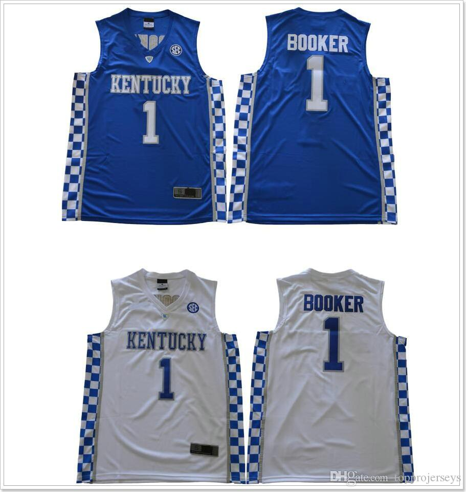 e92220f8b ... discount 2018 new kentucky wildcats 1 devin booker college mens vintage  basketball team pro jerseys sports