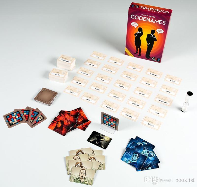 Codenames Party Game ألعاب مضحكة للكبار كلمة اجتماعية لعبة فرضية بسيطة وتشكل لعبة بطاقة اللعب