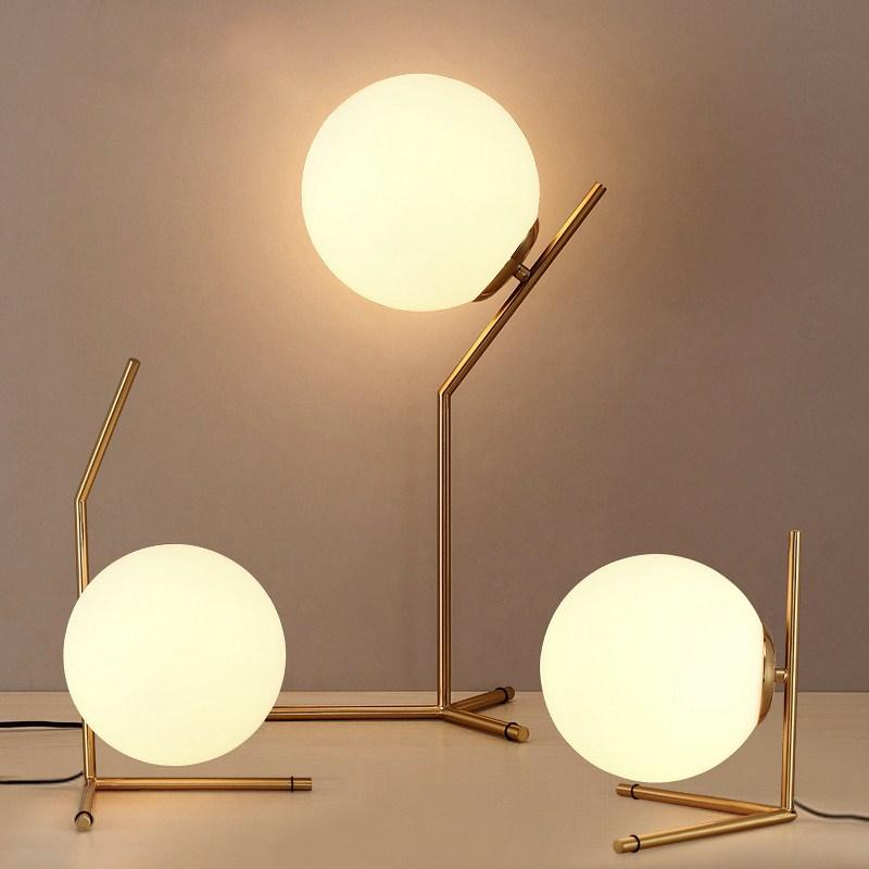 Floor Lamps Lamps & Shades 100% True Modern Simple Glass Ball Floor Lamp Living Room Bedroom Bedside Lamp Modern Creative Personality Led Eye Protection Floor Lamp