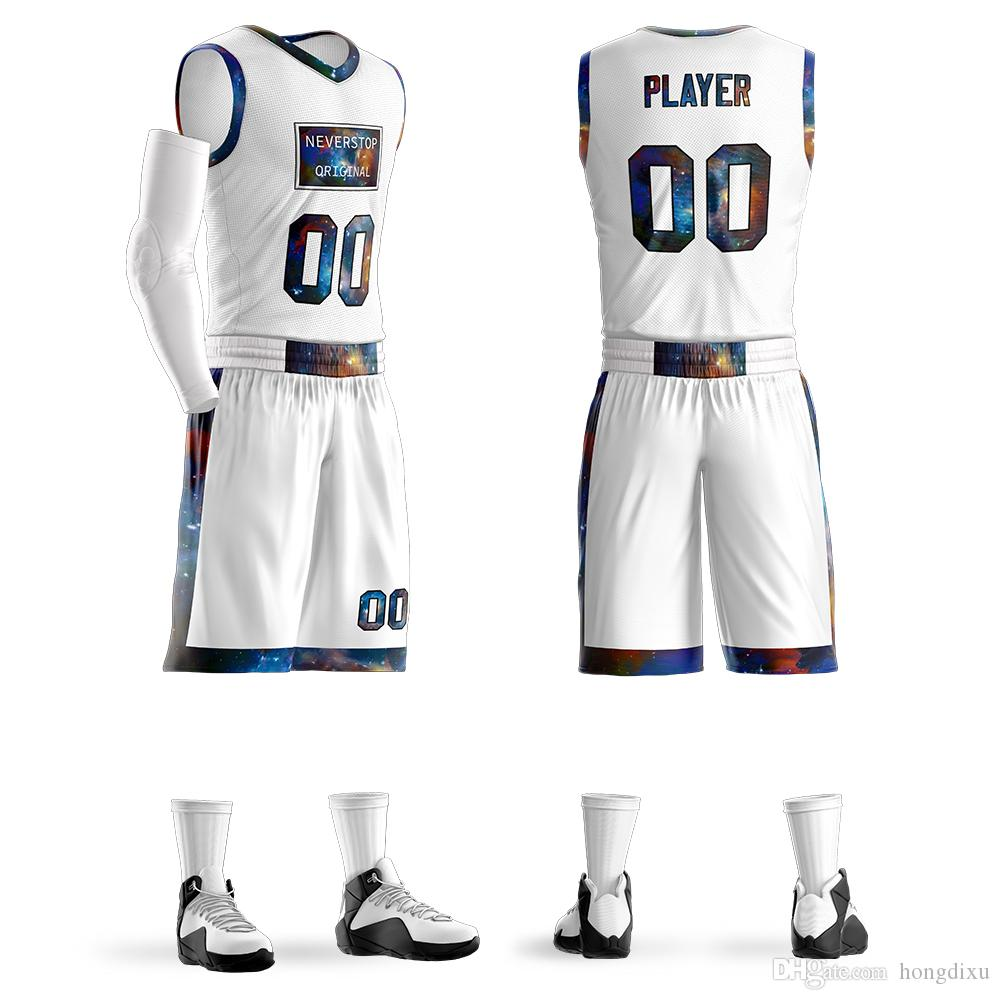 5266ce6487ad 2019 Personalized Custom Mens Youth Basketball Jerseys Sets Design Uniforms  Sports Kit Clothing From Hongdixu