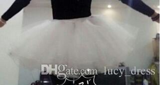 Çocuk Petticoats Düğün Aksesuarları 4 Katmanlar Hoopless Kısa Kabarık Etek Beyaz Çiçek Kız Elbise Çocuk Prenses Jüpon HDY556