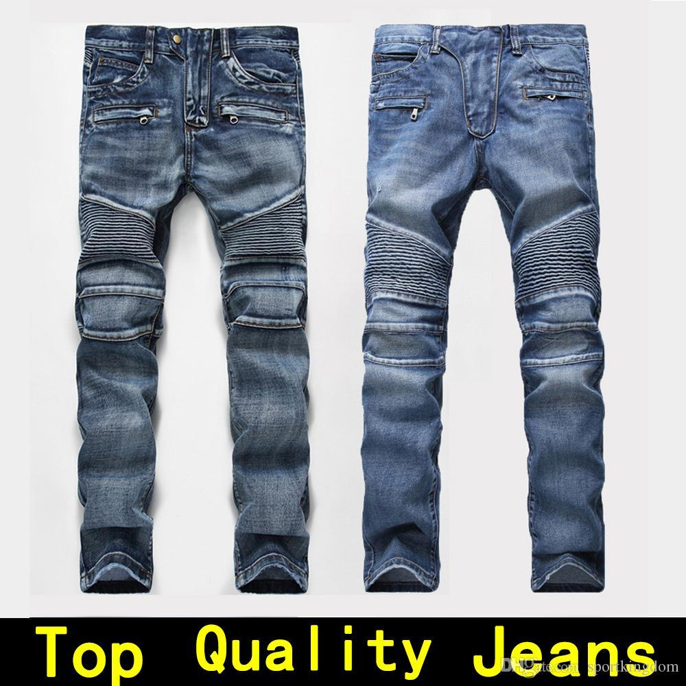 df18e1bd39b4 Herren Jeans Herren Designer Jeans Distressed Motorrad Biker Rock Revival Jeans  Größe 42 Enge Skinny Ripped