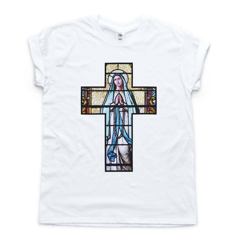 Crucifix Madonna T Shirt Indie Baroque Religion Fresh Holy Faith