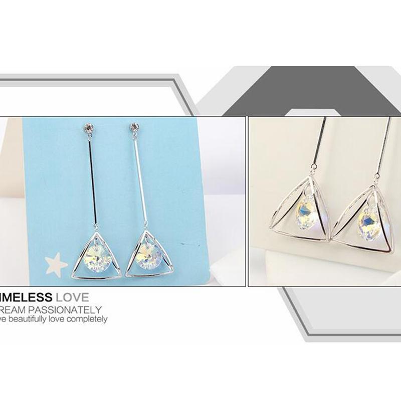Ohrringe Damenmode Original Kristall von SWAROVSKI Elements Strass Anhänger 2018 Weihnachtsgeschenk