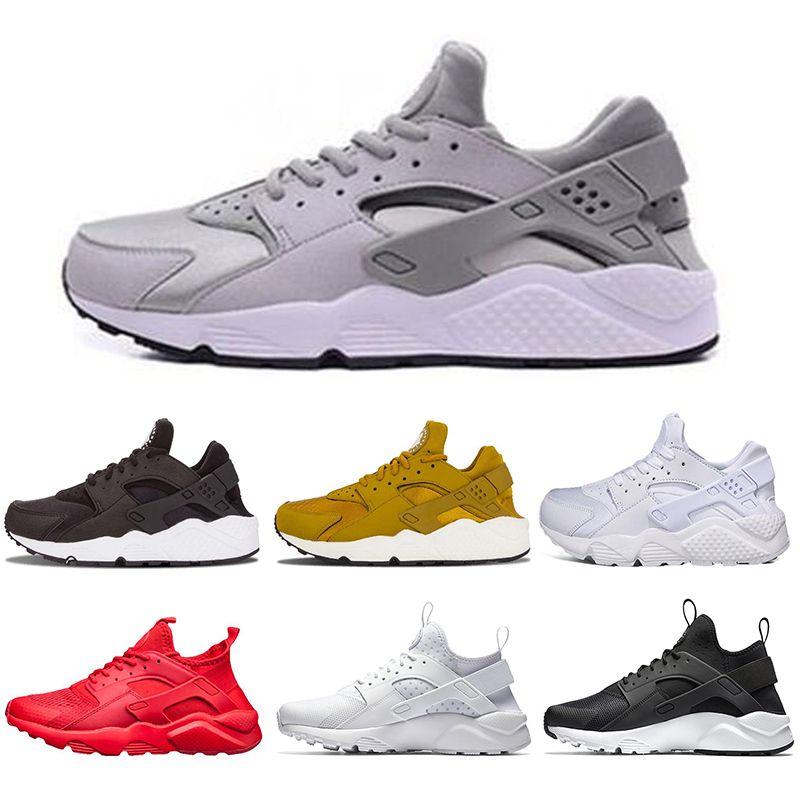 34ff5b272c7b Designers Huarache 1.0 4.0 Running Shoes For Men Women Triple White ...