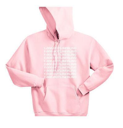Unisex 1-800 Hotline Bling Light Pink Sweatshirt Hoodies Women Men Autumn Hooded  Pink Pullover Hipster Outfits Oversize Hoodies Women Sweatshirt Hoodie ... d4b494174d