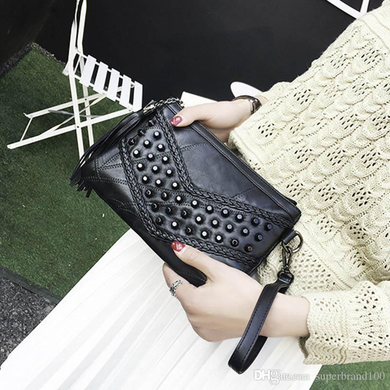 Mode Quaste Pandent Damentaschen Luxus Handtaschen Leder Frauen Umhängetasche Für Mädchen Umhängetasche Frauen