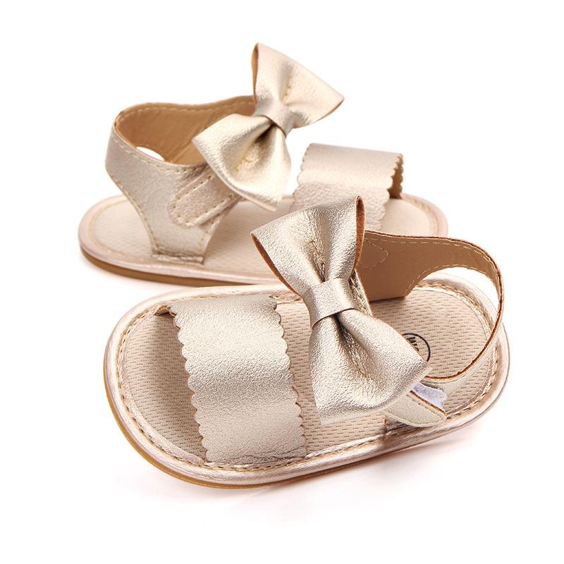 Baby Cute Sandals Newborn Baby Girl Bow Tie Sandals Summer Shoes ... f56fb9b0558f