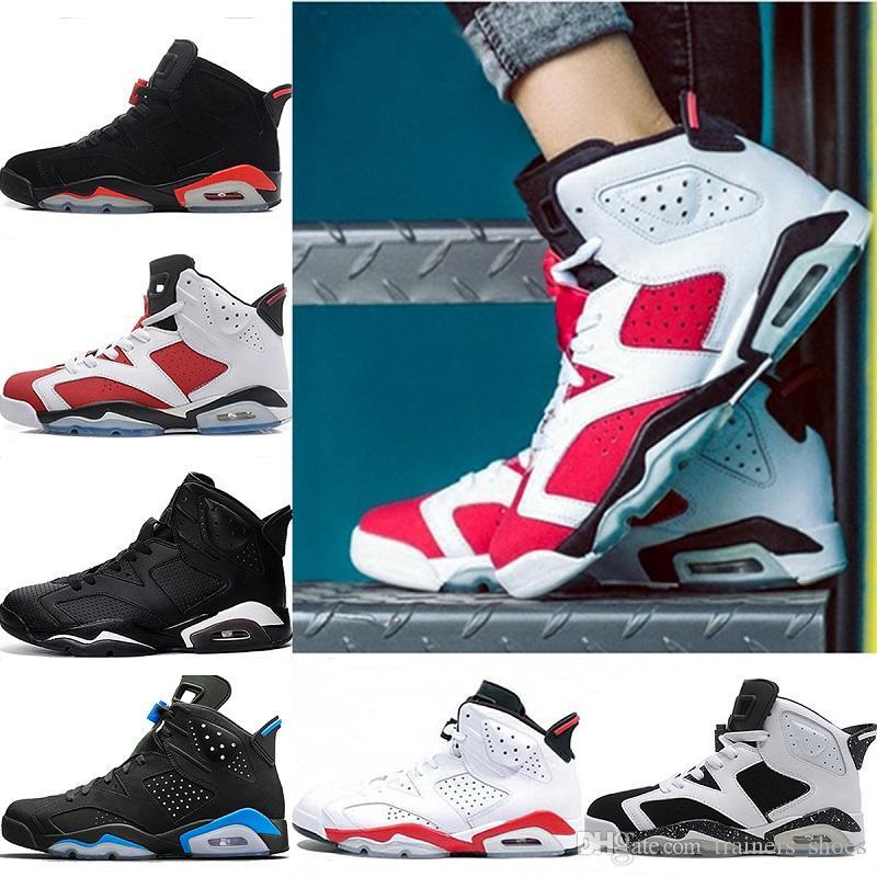 Hottest Mens Designer 6 6s Basketball Shoes Unc Black Cat Infrared