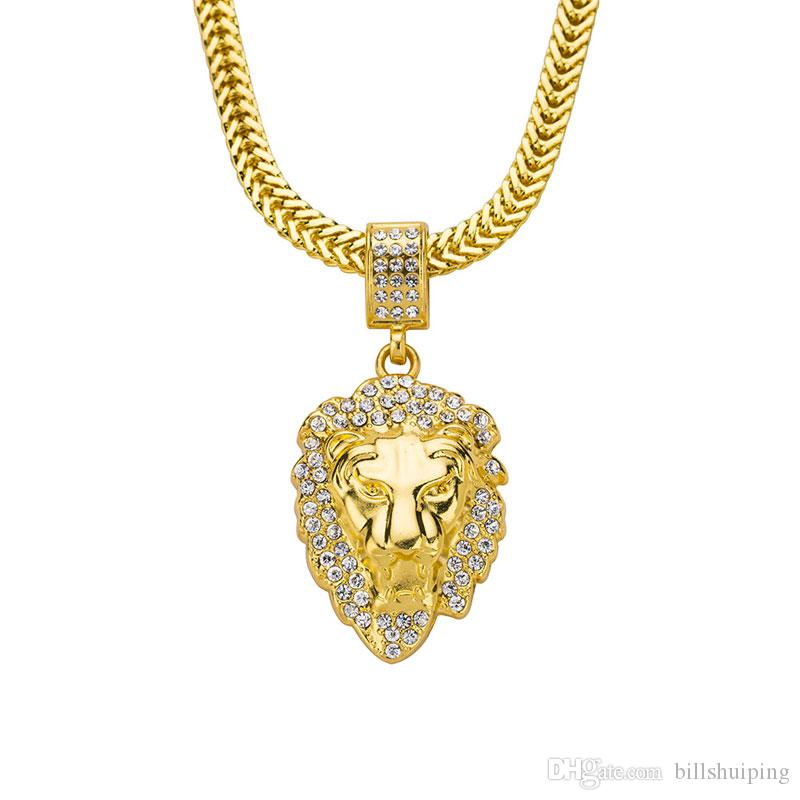 32mm Silver Yellow Plated Lion Head Charm