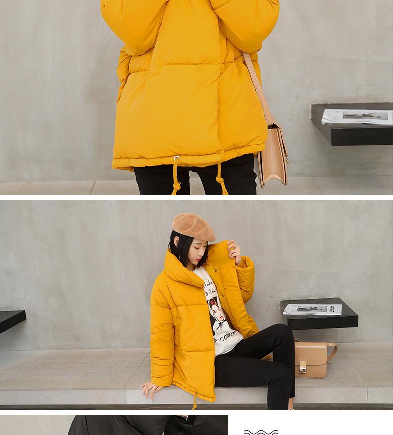 2018 Winter Coat Women Solid Outwear Medium-Long Wadded Harajuku Snow Parka thickness Cotton Warm Down Jacket Plus Size Outwear