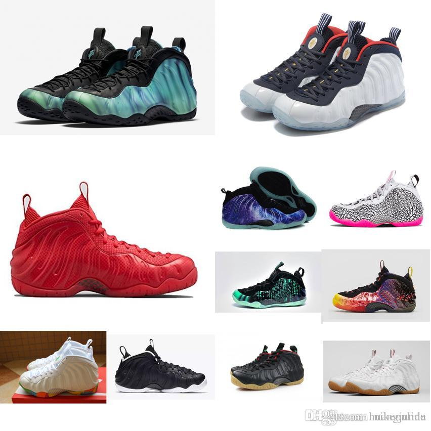 4035b855eb2 2019 Cheap Women Penny Hardaway Posite Basketball Shoes Galaxy White Black  Boys Girls Youth Kids Air Flights Foams One Sneakers Boots For Sale From ...