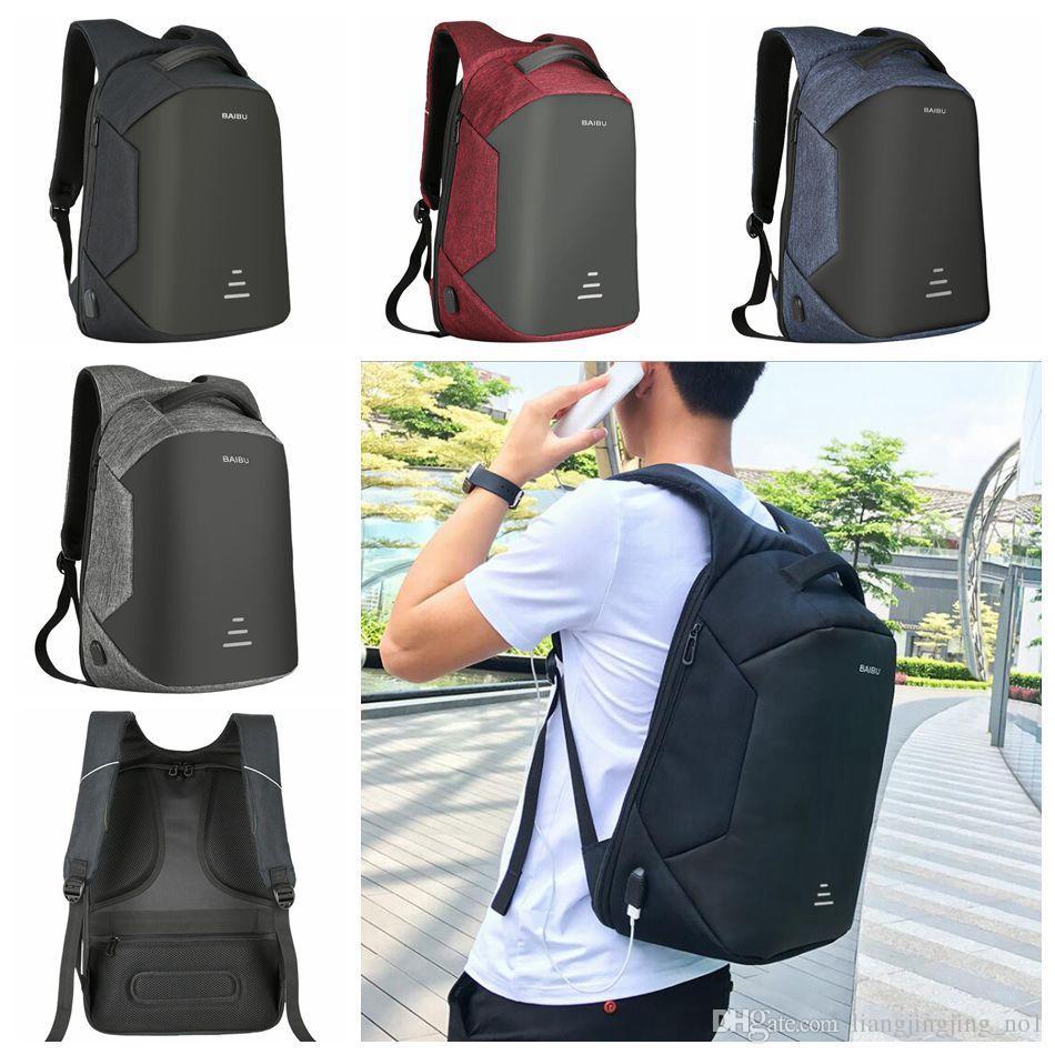 7bfa63184c00 USB Charge Backpack Waterproof External Port Laptop Backpack Anti-theft Bag  School Notebook Bag Travel Backpacks 8 Styles 10pcs OOA4713