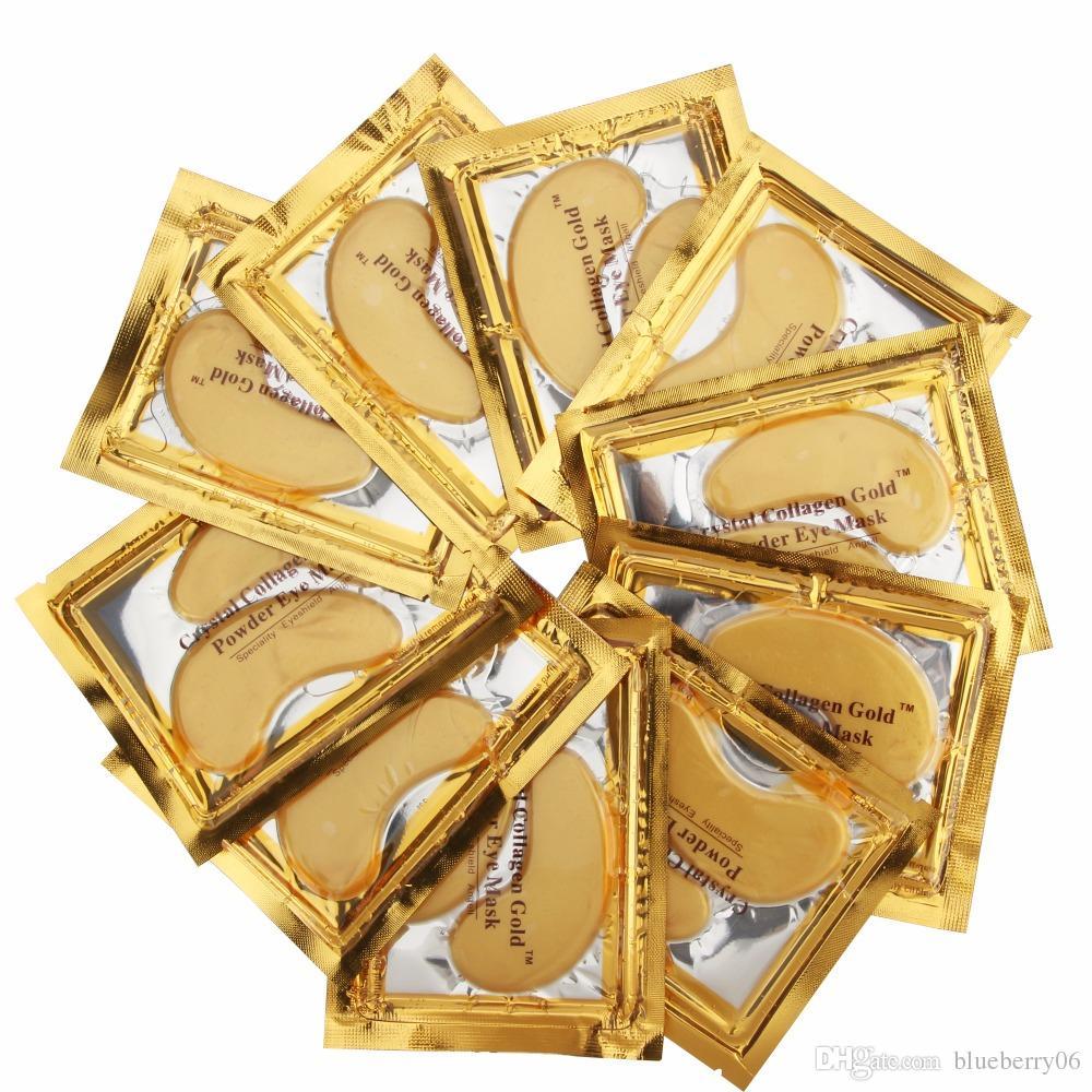 nouveau concept pas mal prix bas Masque pour les yeux au cristal collagène doré Hotsale Patchs pour les yeux  100pcs = 50 pack Fine Lines Soins du visage Soins de la peau