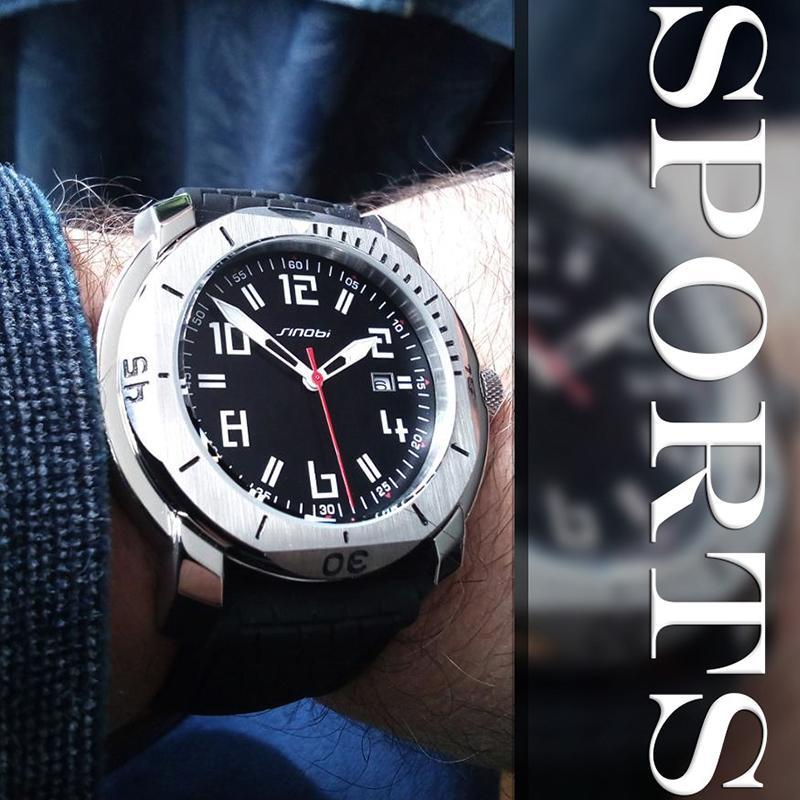3b966f687897 SINOBI водонепроницаемые часы Мужские спортивные наручные часы светящиеся  руки ...