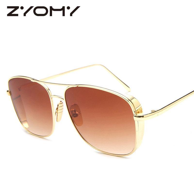 dd6bdcd13131 Metal Frame UV400 Classic Brand Designer Goggle Men Sunglasses Women ...