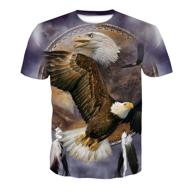 40586714f14 Fashion Casual Tee 3D Print Eagle Funny T Shirt Animal Tops Mens Womens T  Shirts Shirt With T Shirt Buy Funny T Shirts Online From Freesky866