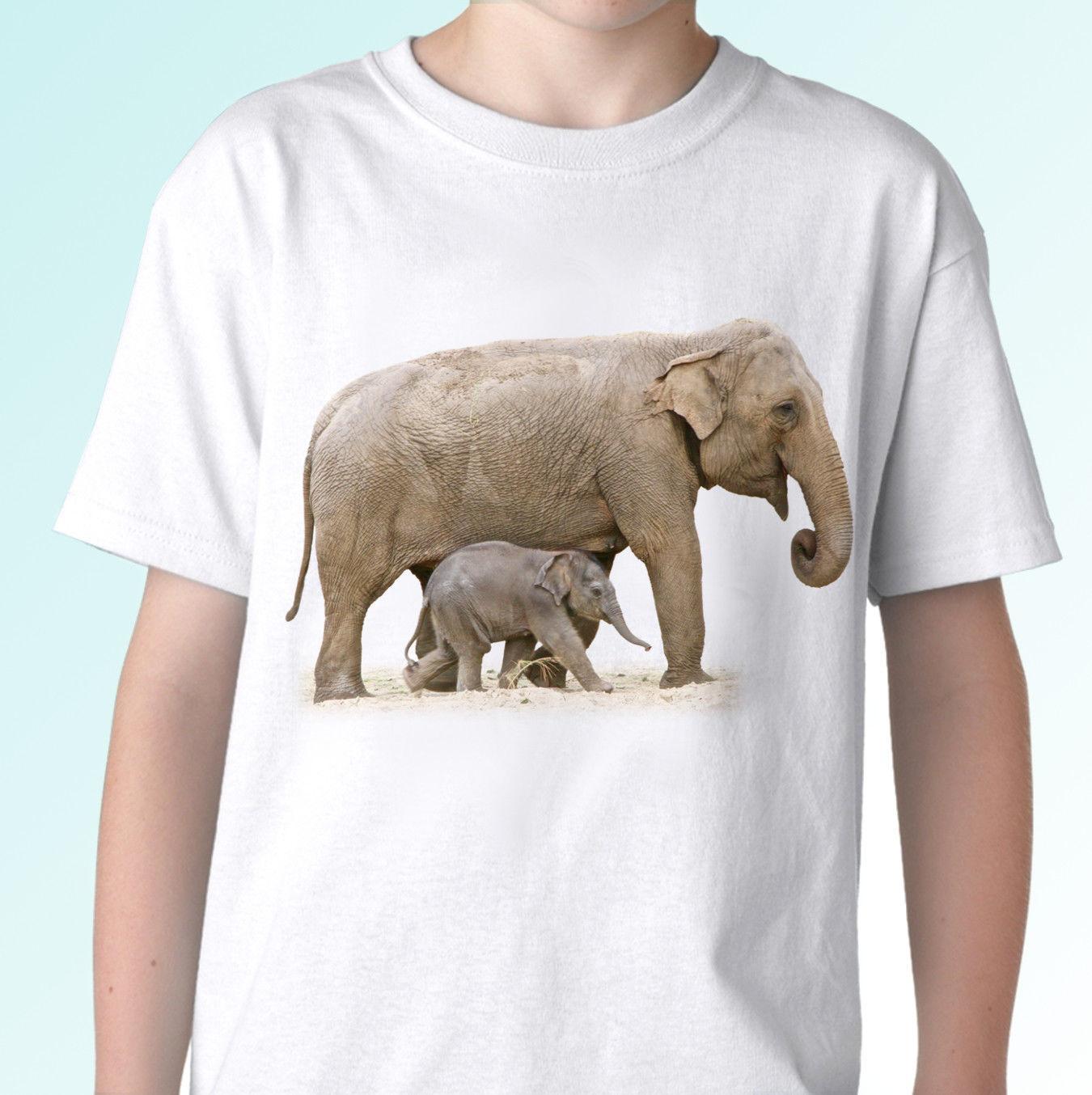 5d1535daf77edf Elephants White T Shirt Animal Tee Top Design Mens Womens Cool Casual Pride T  Shirt Men Unisex New Fashion Tshirt Loose Funny Print Shirts White T Shirt  ...
